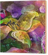 The Roses In The Sheep Dream Wood Print