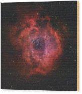 The Rosette Nebula Wood Print