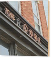 The Rossi Tavern Sign Wood Print