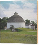 The Round Barn Wood Print