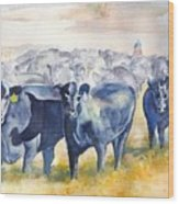 The Round Up Cattle Drive  Wood Print