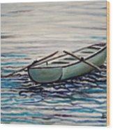 The Row Boat Wood Print