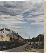 The Royal Canadian Pacific  Wood Print