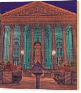 The Royal Exchange In The City London Wood Print by Chris Smith