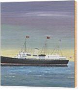 The Royal Yacht Britannia Wood Print