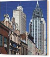 The Rsa Tower - Mobile Alabama Wood Print