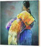 The Rug Girl Wood Print