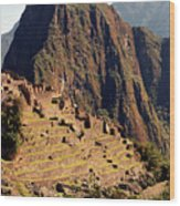 The Ruins Of Machu Picchu, Peru, Latin America Wood Print