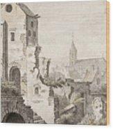 The Ruins Of Utrecht Wood Print