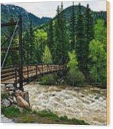 The Rushing Animas River - Colorado Wood Print