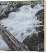 The Rushing River Wood Print