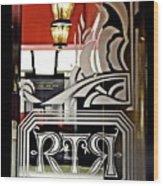 The Russian Tea Room Door Wood Print