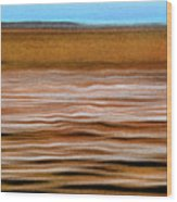 The Rust Brown Pacific Wood Print