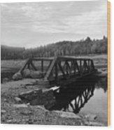 The Rusted Bridge Wood Print