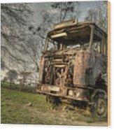 The Rusting Rig Wood Print