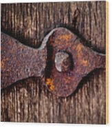The Rusty Hinge Wood Print
