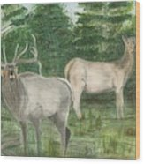 The Rut Wood Print
