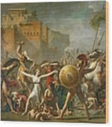 The Sabine Women Wood Print