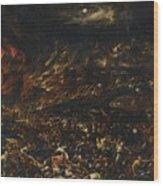 The Sack Of Troy Wood Print