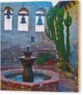 The Sacred Garden Of Mission San Juan Capistrano California Wood Print