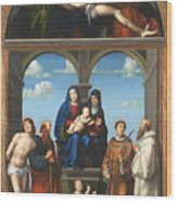 The Saint Anne Altarpiece From San Frediano Lucca Wood Print