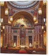 The Sanctuary Of Saint Matthew's Cathedral Wood Print