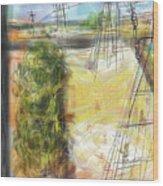 The Sandlot Wood Print by Russell Pierce