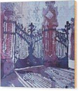 The Sant Pau Gates Wood Print