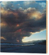 The Santa Barbara Fire Wood Print