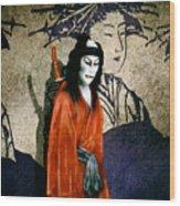 The Scarlet Samurai... Wood Print