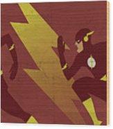 The Scarlet Speedster Wood Print