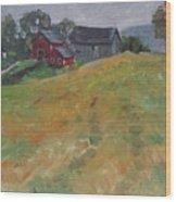 The Schneider Farm Wood Print
