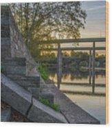 The Schuylkill Steps - East Falls - Philadelphia Wood Print