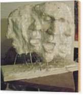 The Scream Wood Print by John Baker