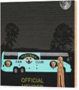 The Scream World Tour Football Tour Bus Wood Print by Eric Kempson