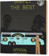 The Scream World Tour Football Tour Bus Simply The Best Wood Print