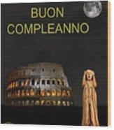 The Scream World Tour Rome Happy Birthday Italian Wood Print