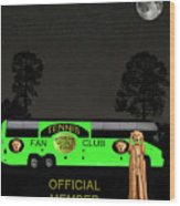The Scream World Tour Tennis Tour Bus Wood Print by Eric Kempson