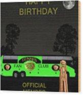 The Scream World Tour Tennis Tour Bus Happy Birthday Wood Print by Eric Kempson