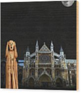 The Scream World Tour Westminster Abbey Wood Print by Eric Kempson