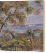 The Sea At Cagnes Wood Print