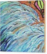 The Sea Blimps Wood Print