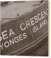 The Sea Crescent Wood Print