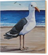 The Sea Gull Wood Print