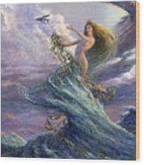 The Storm Queen Wood Print