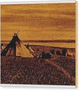 The Searchers Homage 1956   Wig-wam Village Variation #1 1890's Wood Print