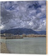 The Seasons On Lake Pend Oreille Wood Print