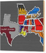 The Sec South Eastern Conference Teams Wood Print