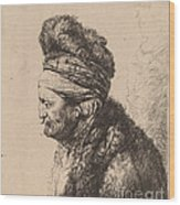 The Second Oriental Head Wood Print
