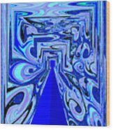 The Secret Room Abstract Wood Print